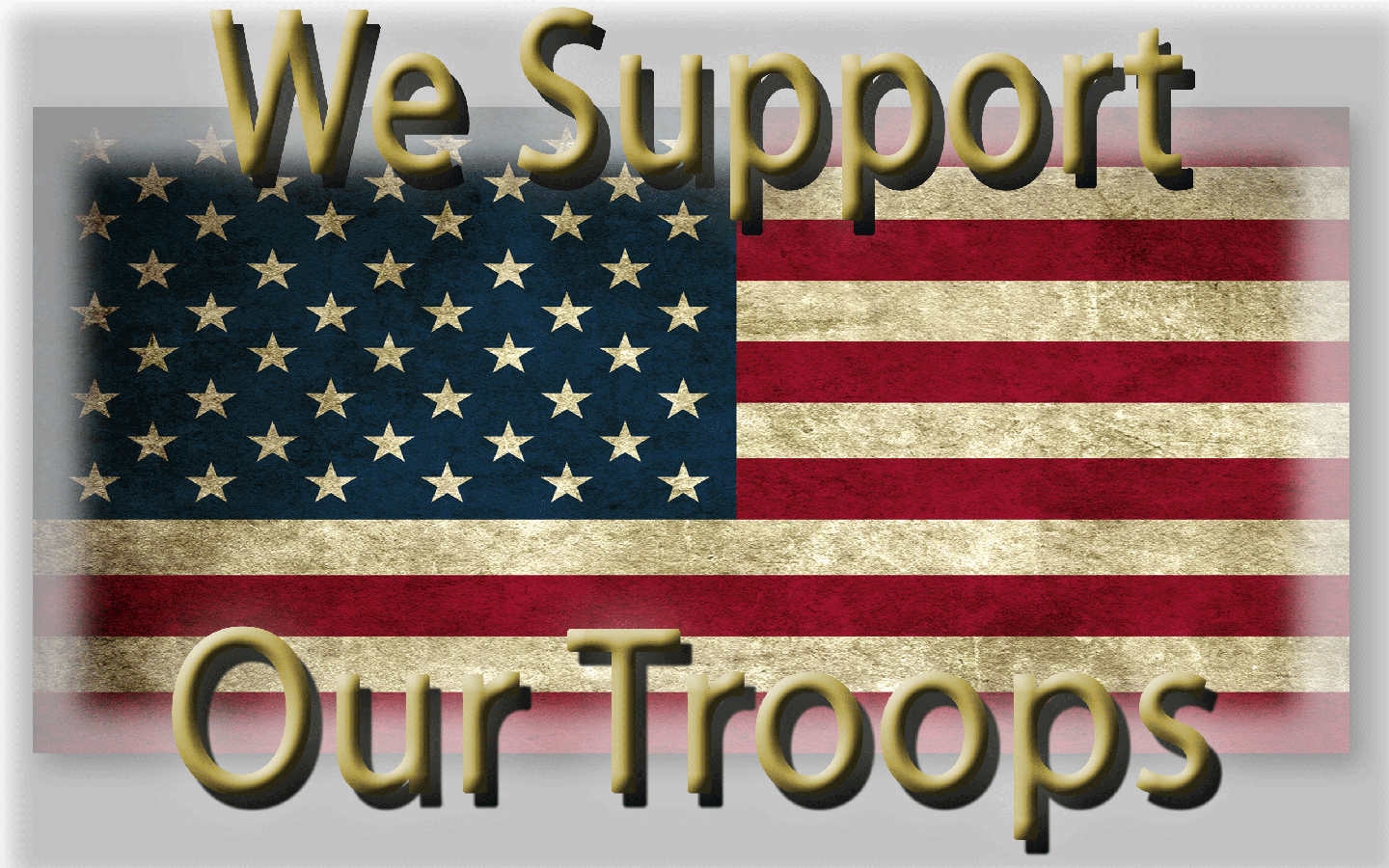 We support our troops. Operation gratitude.