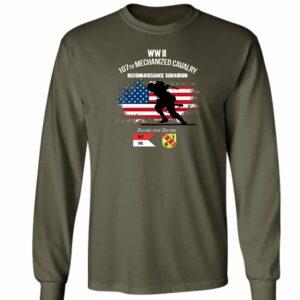 107th Mechanized Cavalry Headquarters Long Sleeve T-Shirt